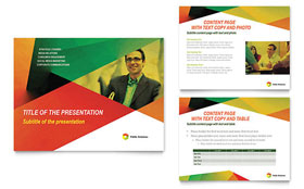 Public Relations Company - PowerPoint Presentation Template Design Sample