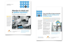 Janitorial & Office Cleaning - Datasheet Sample Template