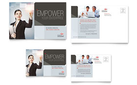 Corporate Business - Postcard Template Design Sample