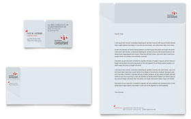 Corporate Business - Business Card & Letterhead Template Design Sample