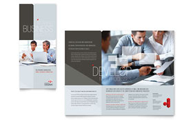 Corporate Business - Microsoft Word Tri Fold Brochure Template