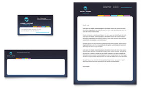 Secretarial Services - Business Card & Letterhead Template Design Sample