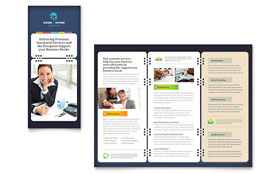 Secretarial Services - Adobe InDesign Tri Fold Brochure Template