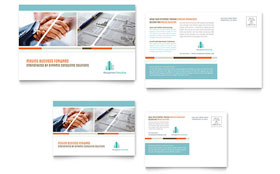 Management Consulting - Postcard Template Design Sample