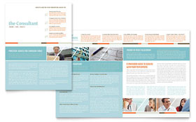 Management Consulting - Newsletter Template Design Sample
