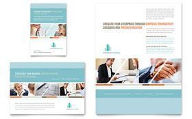 Management Consulting - Flyer & Ad Template Design Sample