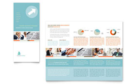 Management Consulting - Tri Fold Brochure Template Design Sample