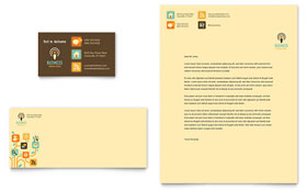 Business Services - Business Card & Letterhead Template Design Sample