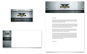 Locksmith - Business Card & Letterhead Template Design Sample