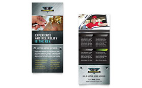 Locksmith - Rack Card Template Design Sample