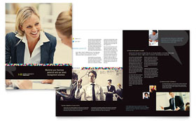 Human Resource Management - Brochure - Graphic Design Template Design Sample