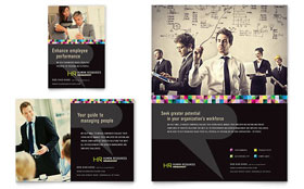 Human Resource Management - Print Ad Template Design Sample