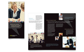Human Resource Management - Tri Fold Brochure Template Design Sample