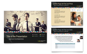Human Resource Management - Microsoft PowerPoint Template Design Sample