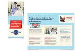 Laundry Services - Tri Fold Brochure Template Design Sample