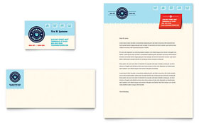 Laundry Services - Business Card & Letterhead Template Design Sample