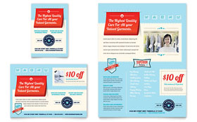 Laundry Services - Print Ad Template Design Sample