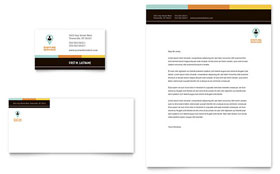 Recruiter - Business Card & Letterhead Template Design Sample
