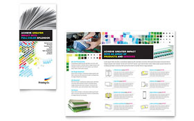 Printing Company - Brochure - Microsoft Word Template Design Sample