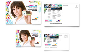 Printing Company - Postcard Template Design Sample