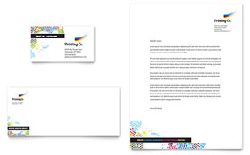 Printing Company - Letterhead Template Design Sample