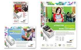 Printing Company - Print Ad Template Design Sample
