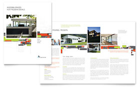 Architectural Design - Brochure - Adobe Illustrator Template Design Sample
