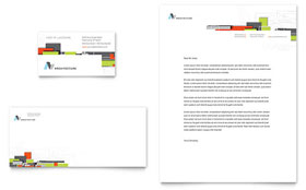 Architectural Design - Business Card & Letterhead Template Design Sample