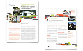 Architectural Design - Sales Sheet Template Design Sample