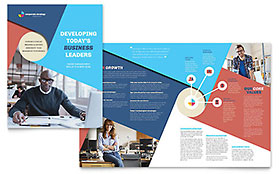 Corporate Strategy - Microsoft Publisher Brochure Template