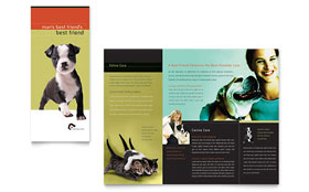 Veterinary Clinic - Brochure Template Design Sample