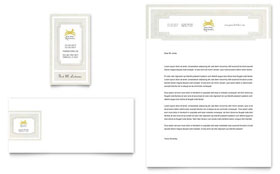 Pet Hotel & Spa - Business Card & Letterhead Template