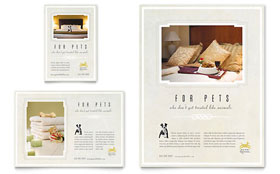 Pet Hotel & Spa - Flyer & Ad Template Design Sample