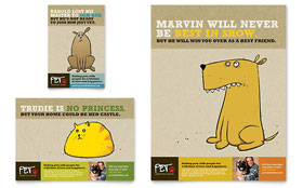 Animal Shelter & Pet Adoption - Flyer & Ad Template Design Sample
