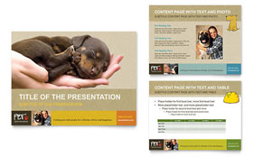 Animal Shelter & Pet Adoption - PowerPoint Presentation Template Design Sample