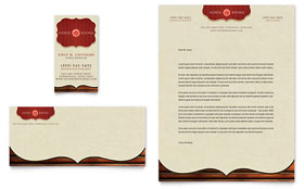 Horse Riding Stables & Camp - Business Card & Letterhead Template Design Sample