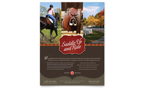 Horse Riding Stables & Camp - Flyer Template