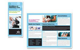 Animal Hospital - Tri Fold Brochure Template