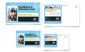 Animal Hospital - Postcard Template Design Sample