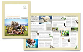 Nature & Wildlife Conservation - Brochure - QuarkXPress Template Design Sample