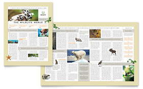 Nature & Wildlife Conservation - Newsletter Template Design Sample