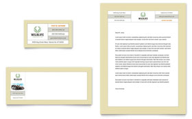Nature & Wildlife Conservation - Business Card & Letterhead Template Design Sample