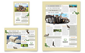 Nature & Wildlife Conservation - Leaflet Template Design Sample