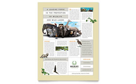 Nature & Wildlife Conservation - Flyer Sample Template