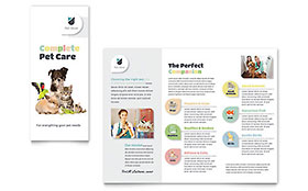 Pet Store - Graphic Design Brochure Template