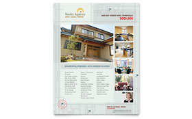 Real Estate Agent & Realtor - Flyer Template Design Sample