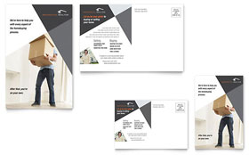 Contemporary & Modern Real Estate - Postcard Template Design Sample
