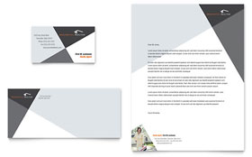 Contemporary & Modern Real Estate - Business Card & Letterhead Template