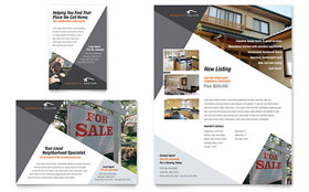 Contemporary & Modern Real Estate - Flyer & Ad Template