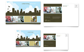 Urban Real Estate - Postcard Template Design Sample